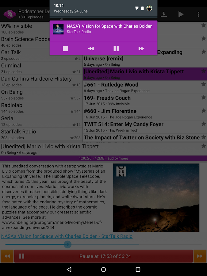 Podcatcher Deluxe- screenshot