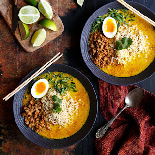Spicy Pork Thai Coconut Curry Ramen Recipe