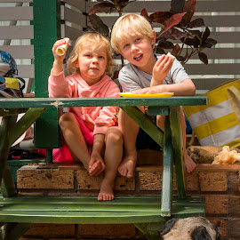 Benches by Geoffrey Wols - Babies & Children Child Portraits ( children, boy,  )