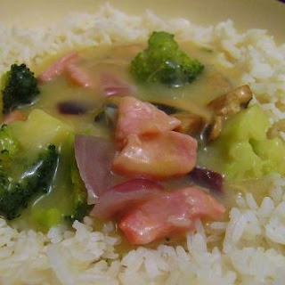 Bacon Broccoli in Warming Chicken Soup Rice