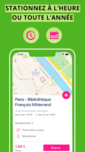 Screenshot Zenpark, book a parking space