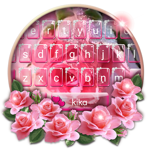 Pink Rose Heart Keyboard Theme Icon