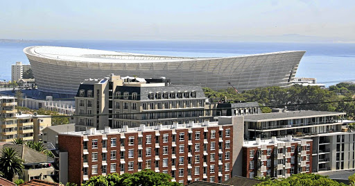 Red card: Most of the large construction companies were investigated and fined by the Competition Commission for colluding during the construction of the 2010 Soccer World Cup stadiums. Picture: SUNDAY TIMES