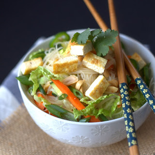 Crispy Tofu Noodle Salad.