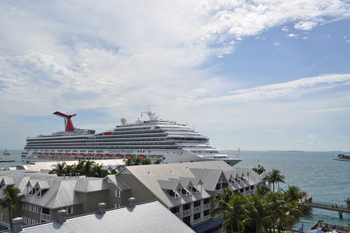 carnival-freedom-key-west.jpg - View of Carnival Freedom from the top deck of a museum in Key West, Fla.