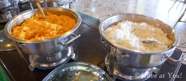 rice choices in the buffet