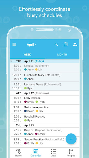 Screenshot for Cozi Family Organizer in United States Play Store