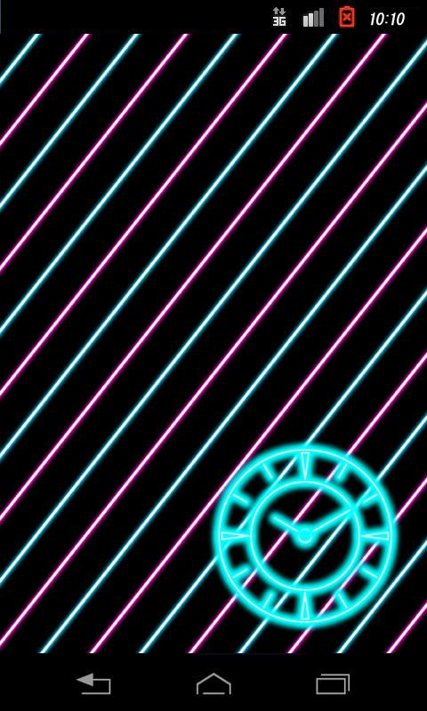 Neon Clock (B)- screenshot