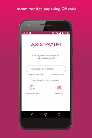 BHIM Axis Pay UPI app- screenshot