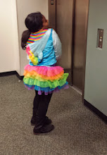 Photo: Kaleya - getting the most out of her Halloween costume - she wears it often!