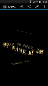 3D My Name Live Wallpaper screenshot 3