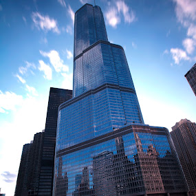 Big Tower by Cristobal Garciaferro Rubio - Buildings & Architecture Office Buildings & Hotels ( tower, blue tower, big rtower, cky, chicago, river )