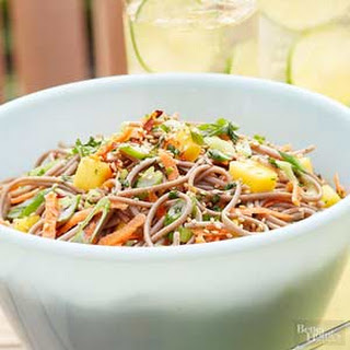 Mango Noodle Salad with Sesame Seeds.