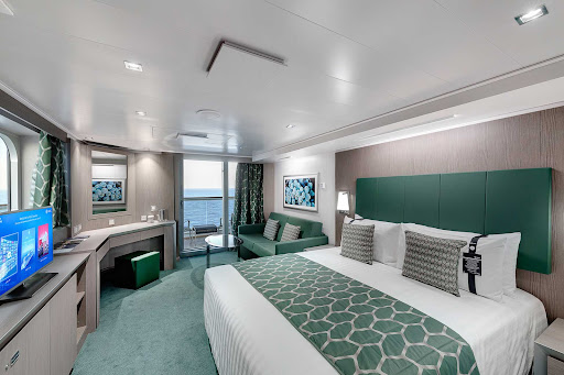 msc-seaview-suite.jpg -   MSC Seaview offers 28 balcony suites with a private whirlpool bath and 12 interior suites.