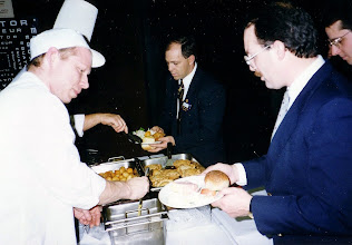Photo: Buffet at Phileas Fogg - Paul Lemieux, ?, Danny Dillon