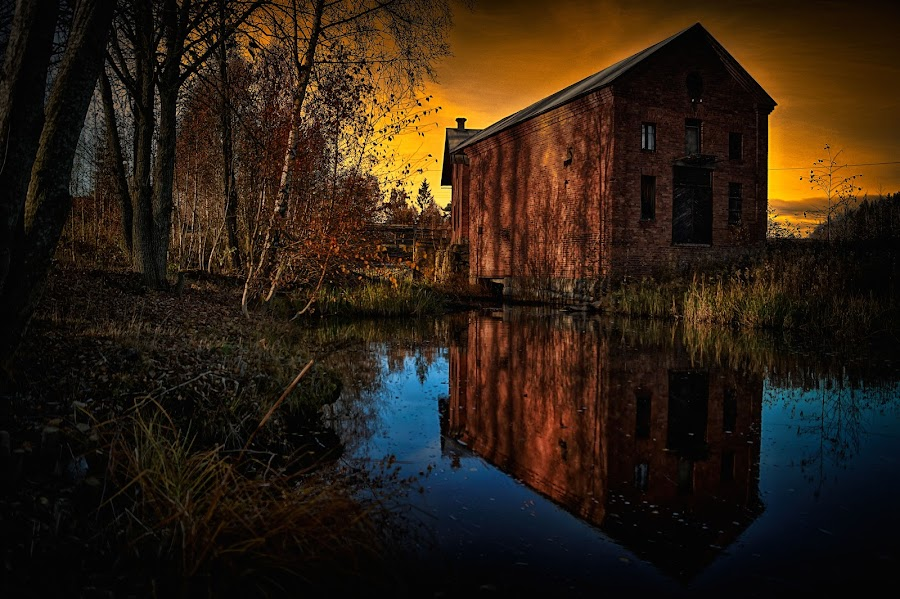 Old mill by Micke Lindblå - Landscapes Waterscapes