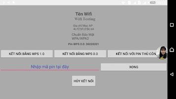 screenshot of Wifi Test