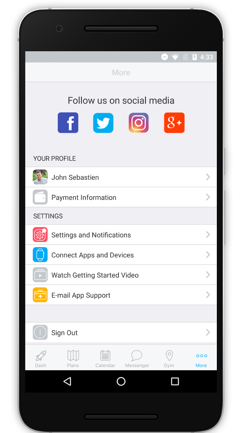 Скриншот The Jim Complete Fitness App