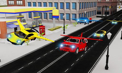 飛行スポーツカーレースの3D