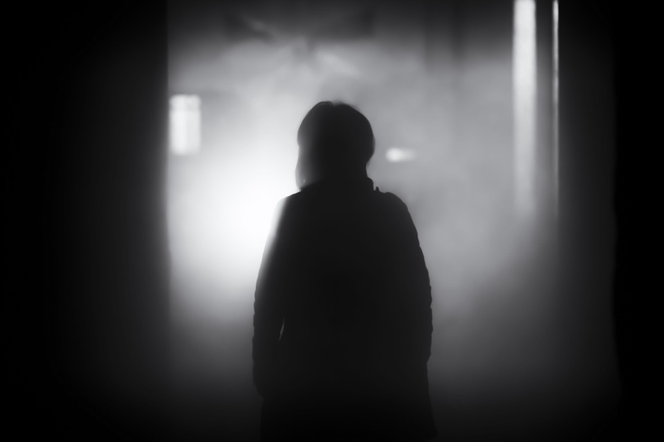 People, Shadow, Dark, Night, Smoke, Black And White