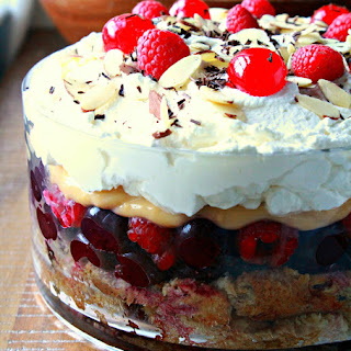 Cherry and Panettone Trifle.