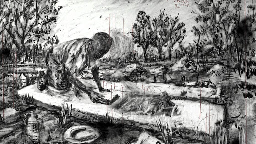A still from William Kentridge's 'City Deep'.