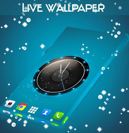 Live Wallpaper Clock for HTC 1.231.1.77 screenshot 2092424