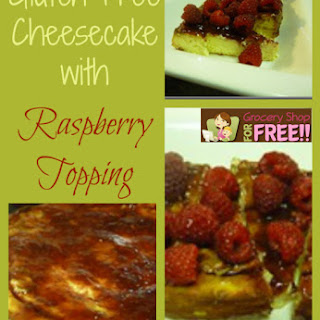 Gluten Free Cheesecake with Raspberry Topping!