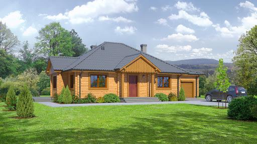 projekt domu Dębina z garażem