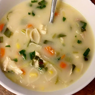 Lemon Coconut Cream Chicken Soup (with vegan option too!)