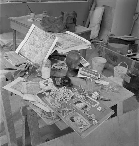 Diego Rivera's workbench