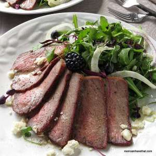 Fennel, Arugula & Steak Salad With Fresh Blueberries