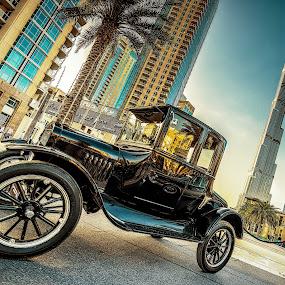 Vintage Car by Ashraf Jandali - Transportation Automobiles