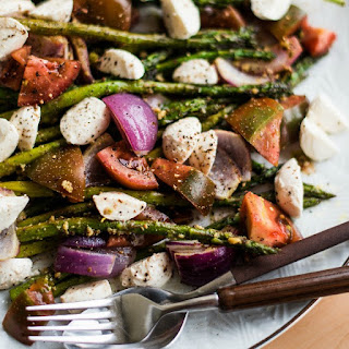 Pesto Asparagus Caprese Salad.