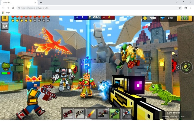 Pixel Gun 3D New Tab & Wallpapers Collection