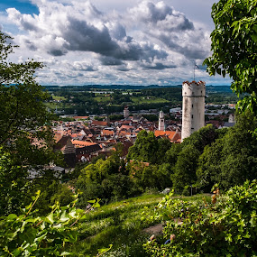 Ravensburg by F Kelly - City,  Street & Park  Skylines ( skyline, tower, ravensburg, germany, town )