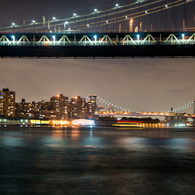 Two Bridges of New York by Stephen Majchrzak - Landscapes Travel