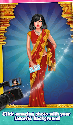 Indian Gopi Beauty Salon : Makeup Dressup Girls modavailable screenshots 3