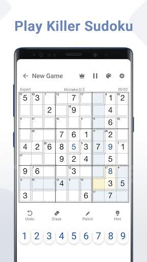 Killer Sudoku - Free Sudoku Puzzles+ 1.0.4 screenshots 1