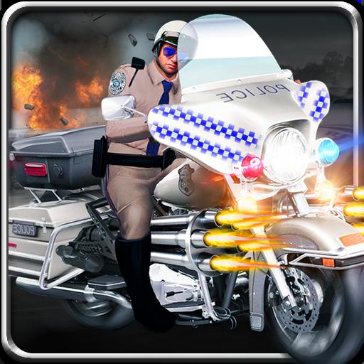 警方摩托射击大通 動作 App LOGO-硬是要APP