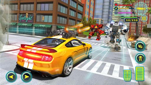 Rhino Robot Car transforming games u2013 City battle filehippodl screenshot 8