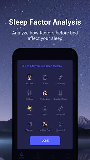 Sound Sleeper - Sleep Cycle Tracker, Snores, Music  screenshots 4
