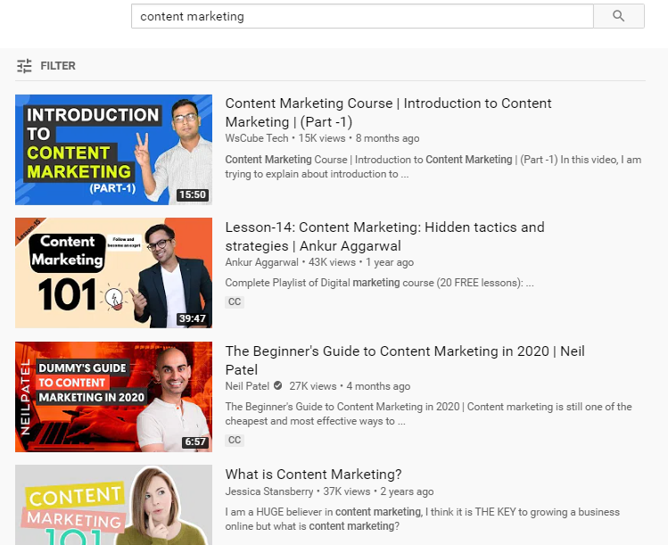 youtube video suggestion topics for writing content