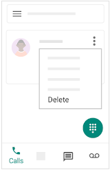 Delete calls, texts, and voicemails on mobile