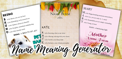 Name Meaning Generator – Free Poem Maker - Apps on Google Play