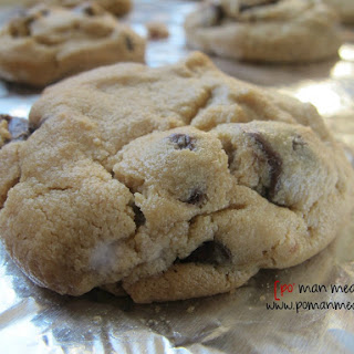 Peanut Butter Cookies With Chocolate Chunks.