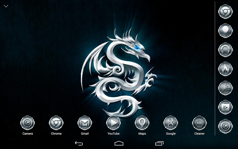 Google themes maker - Metallic Dragon Atom Theme Screenshot