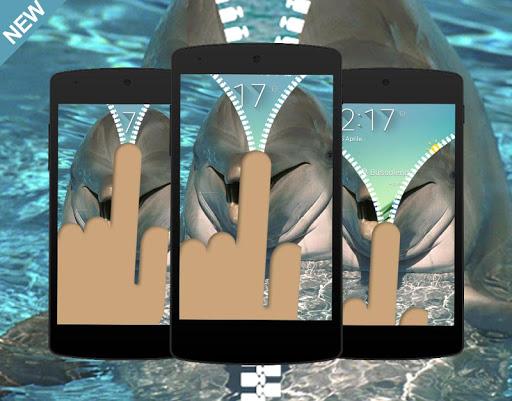 Sea Dolphin Zipper Locked