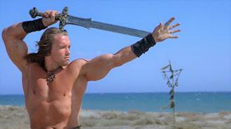 Arnold Schwarzenegger en una imagen de 'Conan, el bárbaro', rodada en Almería.
