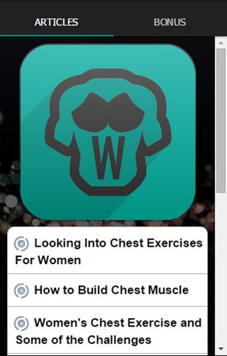 女性のための胸の練習